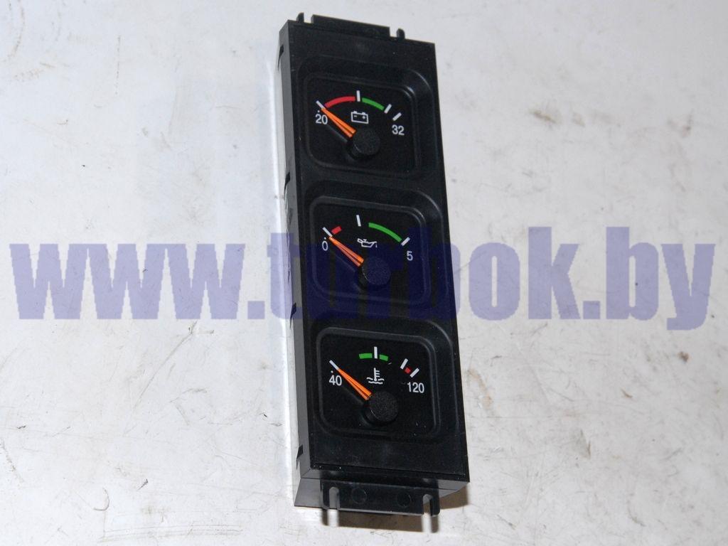 Блок (контроль: напряжения 20-32 В, давления масла 0-5 атм., температуры охладителя ДВС MAN)