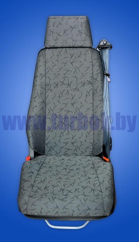 Сиденье водителя (с подголовником, пневмоподвеска) КАМАЗ-6520 3-х точечный ремень)