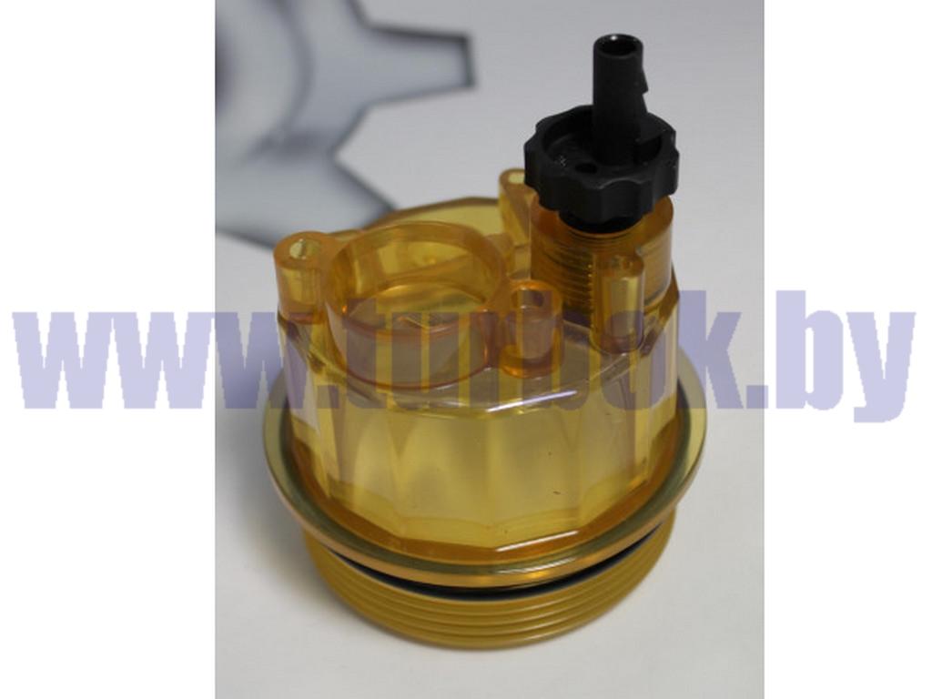 Стакан отстойник с ПОДОГРЕВОМ и  клапаном слива (Отстойник в сб.фильтра PL-270/420)