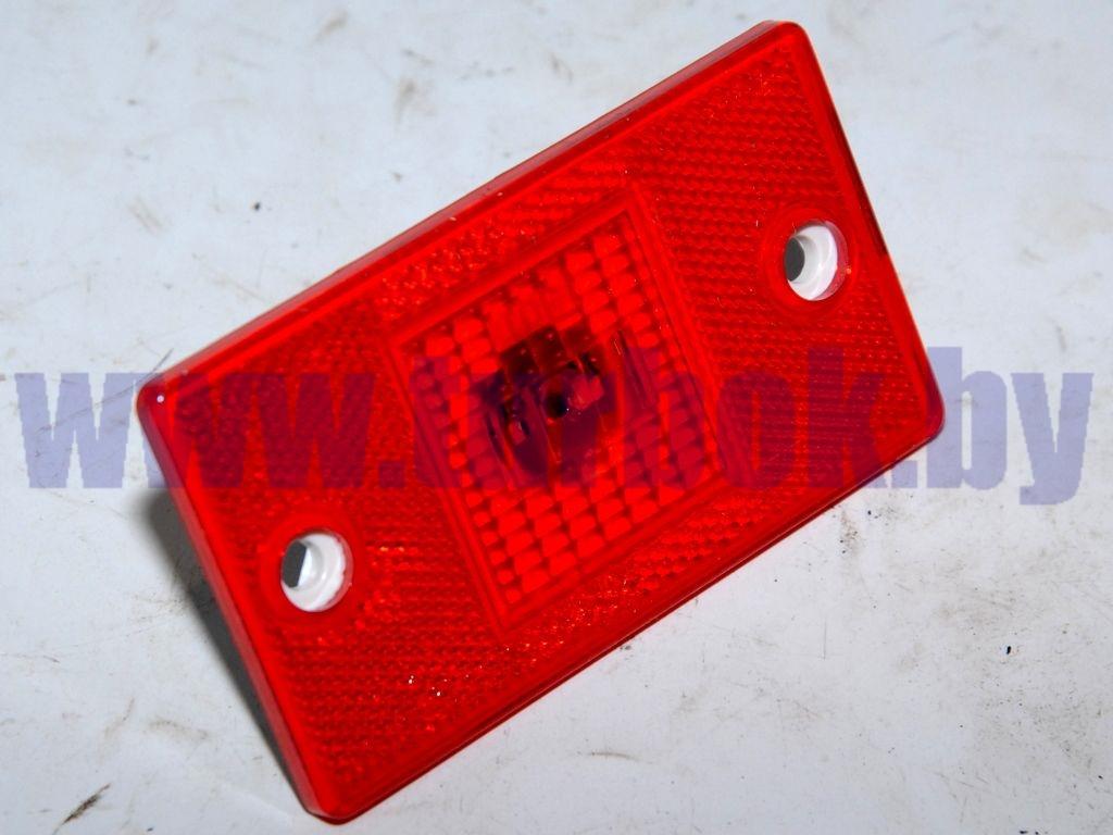 Фонарь задний габаритный прямоугольный (красный) светодиоды